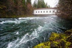 Historic Belknap Bridge McKenzie River Stock Image