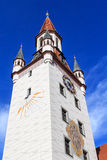Historic bell tower with sundial in Munich Royalty Free Stock Image
