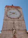 The historic bell tower in Trogir. The historic bell tower in the center of the city Trogir in Croatia Stock Image