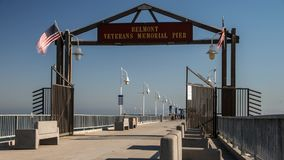 Historic Belmont Veterans Memorial Pier Time Lapse Video Royalty Free Stock Photos