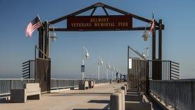 Historic Belmont Veterans Memorial Pier Time Lapse Video stock video footage