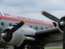 Historic Berlin Airlift Douglas C-54 Skymaster Spirit of Freedom. Stock Images