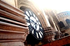 Historic Big Watch. Historical big watch attach on the tower Royalty Free Stock Photography