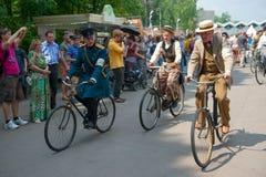 Historic Bike Ride Royalty Free Stock Photos