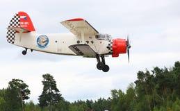 Historic biplane. Stock Photo