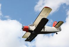 Historic biplane. Royalty Free Stock Photo