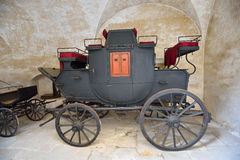 Historic black carriage Royalty Free Stock Images