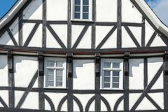 Historic black and white half timbered house Royalty Free Stock Photos