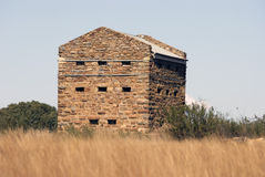 Historic Blockhouse. A blockhouse used during the Anglo Boer war near Vereeniging, South Africa stock image