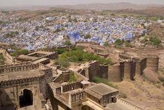 Historic Blue City of Jodhpur Royalty Free Stock Images