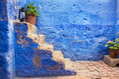 Historic Blue Stairs Royalty Free Stock Image