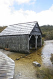Historic Boat Shed, Cradle Mountain, Tasmania Stock Image