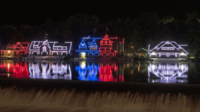Historic Boathouse Row Philadelphia PA Stock Images
