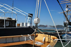 Historic boats. Historic vessels at San Francisco Maritime Park royalty free stock images