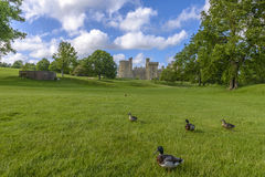 Historic Bodiam Castle in East Sussex Stock Image