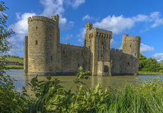 Historic Bodiam Castle and moat in East Sussex Royalty Free Stock Photo