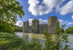 Historic Bodiam Castle and moat in East Sussex Royalty Free Stock Photography