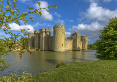 Historic Bodiam Castle and moat in East Sussex Stock Photography