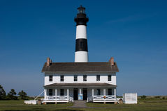 Historic Bodie Island Lighthouse at Cape Hatteras National Seashore on the Outer Banks of North Carolina. View of Historic Bodie Island Lighthouse at Cape Stock Images