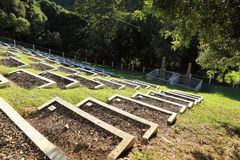 Historic Boer war cemetery on St Helena Island Royalty Free Stock Photos