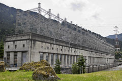 Historic Bonneville Lock and Dam Powerhouse royalty free stock images