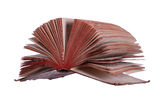 Historic book with fanned pages Stock Photos