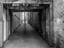 Historic Brick Alleyway royalty free stock photography