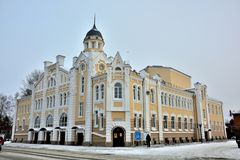 The historic brick building. Historic brick building in the town of Biysk, in the heart of Siberia stock photos