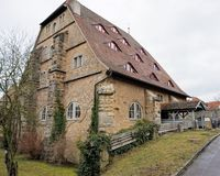 Historic building in Rothenburg, Germany. Historic brick building in the town of Rothenburg, Bavaria, Germany stock images