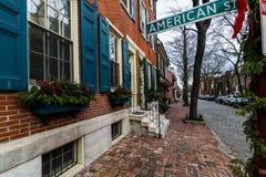 Historic Brick Buildings in Society Hill in Philadelphia, Pennsy Stock Images