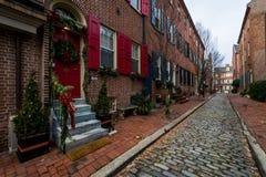 Historic Brick Buildings in Society Hill in Philadelphia, Pennsylvania.  stock images