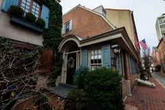 Historic Brick Buildings in Society Hill in Philadelphia, Pennsylvania.  royalty free stock photo