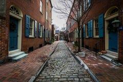 Historic Brick Buildings in Society Hill in Philadelphia, Pennsylvania.  stock image