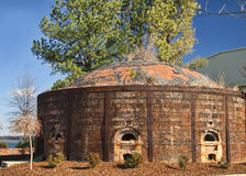 Historic Brick Kiln Decature Alabama. This is huge brick kiln, or oven, from the late 1800s to the early 1900s that is in Decatur Alabama USA. It has a series of stock photo