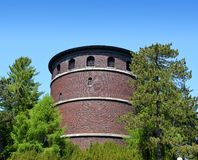 Historic brick water tower Stock Photography