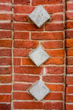 Historic bricks in the masonry of the palace museum reserve Tsaritsyno after restoration Royalty Free Stock Images