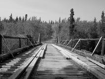 Historic Bridge. In the Yukon, Canada royalty free stock photography
