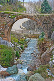 Historic Bridge. Kir Kahvesi Historic Bridge with river in Manisa, Turkey royalty free stock photo