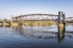 Historic bridge in Magdeburg Royalty Free Stock Photo