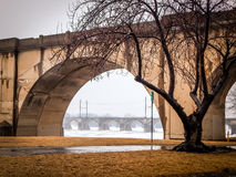 Historic Bridge near Shipoke Park Harrisburg Pennsylvania Royalty Free Stock Images