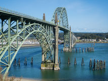 Historic bridge at Newport, Oregon Stock Photos