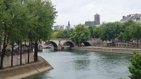 Bridge over the river Seine in Paris, France. Stock Image