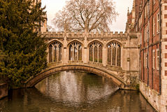 Historic bridge over Cam river Royalty Free Stock Photos