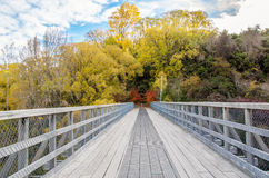 Historic Bridge over Shotover River,New Zealand. Royalty Free Stock Images