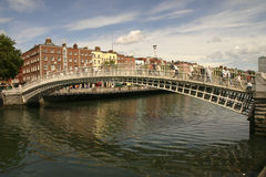 Historic bridge over water stock image
