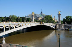 Historic bridge (Pont Alexandre III) Royalty Free Stock Images