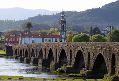 Historic bridge of Ponte de Lima Stock Image