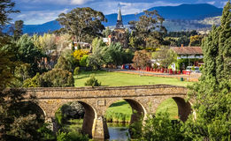 Historic bridge of Richmond in Tasmania Stock Photography