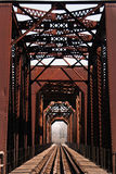 Historic bridge. On the tracks of a historic railway bridge in Richmond, Texas Royalty Free Stock Photography