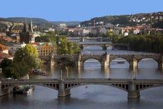Historic bridges in Prague Royalty Free Stock Photos